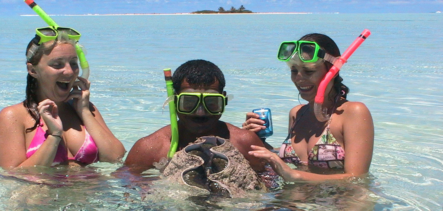 Clam Fishing and Snorkling